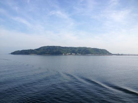海上から見る志賀島