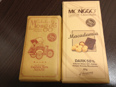 MONGGOのチョコレート