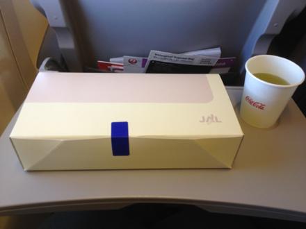 日本航空 JL960便の機内食
